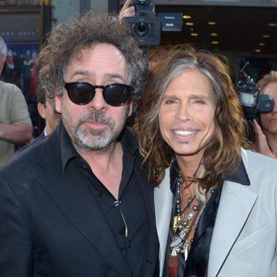 Tim Burton y Steven Tyler en el estreno de 'Dark Shadows' en Los Angeles