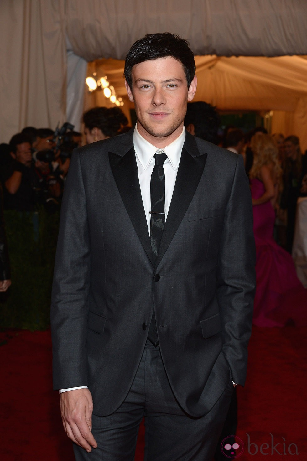 Cory Monteith en la alfombra roja de la Gala del MET 2012