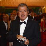 Mario Testino en la alfombra roja de la Gala del MET 2012