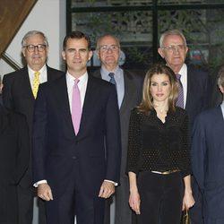 Los Príncipes de Asturias en la inauguración del Espacio Fundación Telefónica