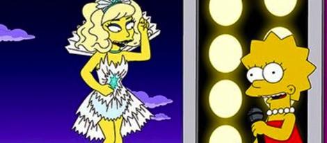 Lady Gaga en un cameo en la serie 'Los Simpson'