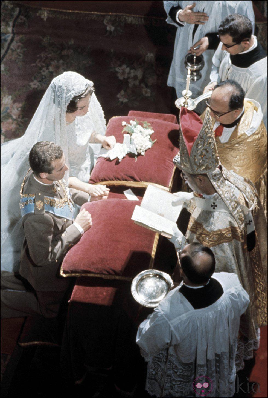 Boda de los Reyes Juan Carlos y Sofía en Atenas en 1962