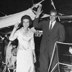 Los Reyes Juan Carlos y Sofía durante su luna de miel en 1962