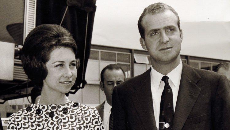 Don Juan Carlos y Doña Sofía en los años setenta