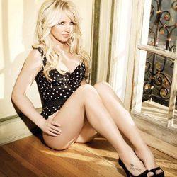 Britney Spears en una de las fotos promocionales de su disco 'Femme fatale'