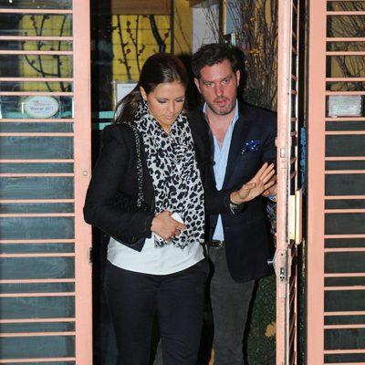 Magdalena de Suecia y Chris O'Neill a la salida de un restaurante en Nueva York