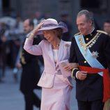 Los Reyes Juan Carlos y Sofía en la boda de los Duques de Palma