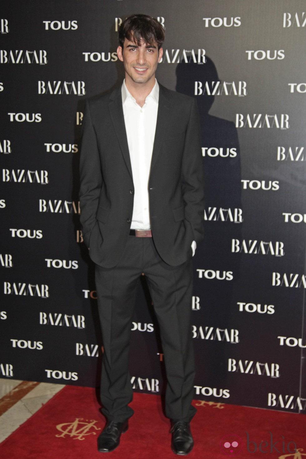Israel Rodríguez en la fiesta organizada por Tous y Harper's Bazaar