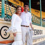 Jesulín de Ubrique y María José Campanario en la plaza de toros de Jerez
