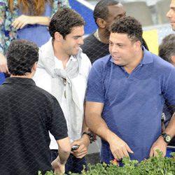 Ronaldo y Kaká en el Masters de Tenis de Madrid