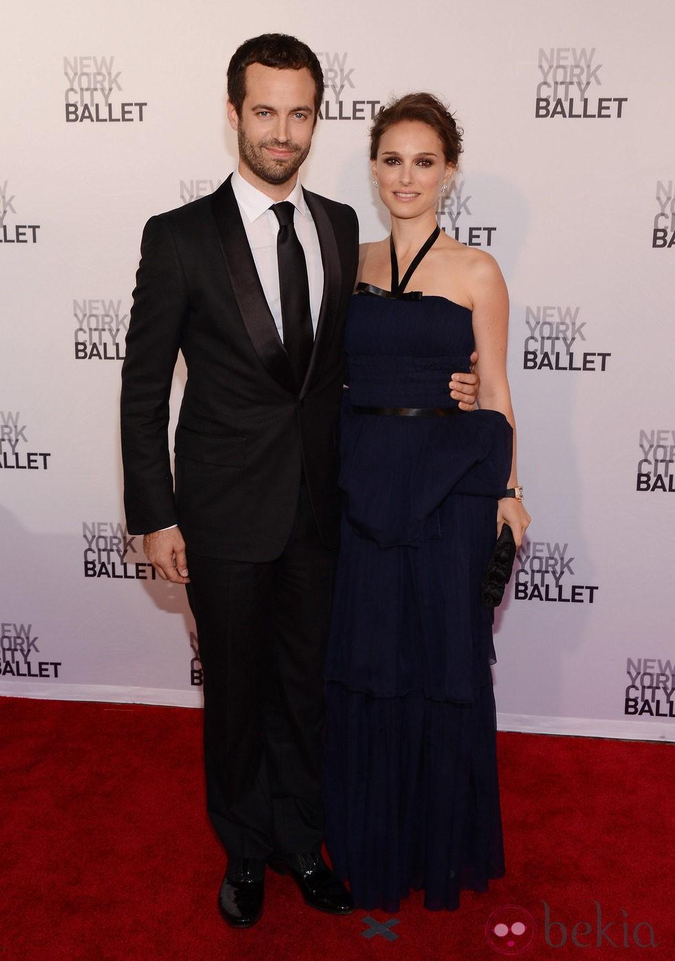 Natalie Portman y Benjamin Millepied en la Gala de Primavera del Ballet de Nueva York