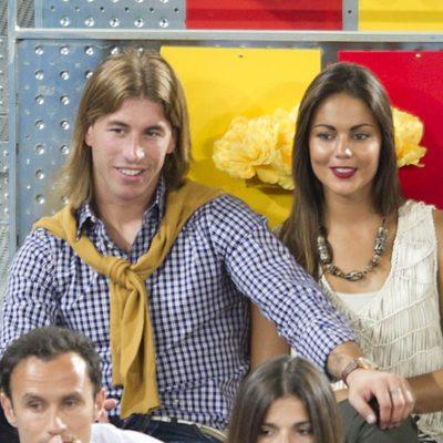 Sergio Ramos y Lara Álvarez en el Masters de Tenis de Madrid