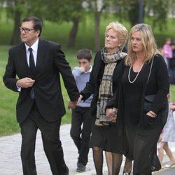 Clarie Liebaert en el funeral de su marido, Juan Mari Urdangarín