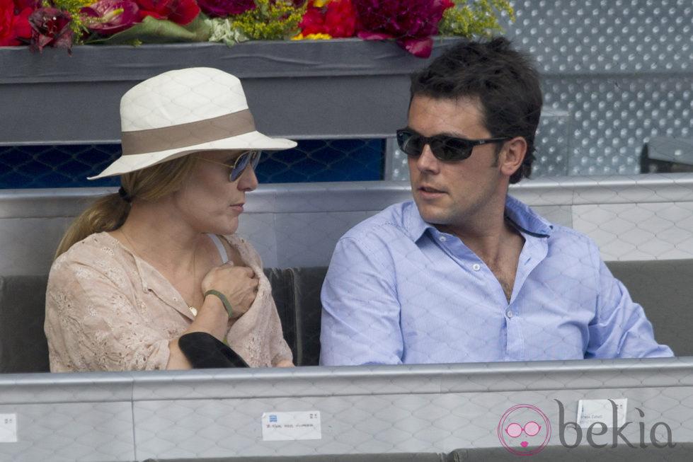 Marta Ortega y Sergio Álvarez en la final del Masters de Tenis de Madrid 2012