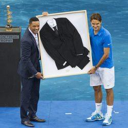 Will Smith y Roger Federer en la final del Masters de Tenis de Madrid 2012 007e205b2132e