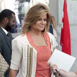 Cari Lapique en la entrega de las Medallas de Oro de Madrid 2012