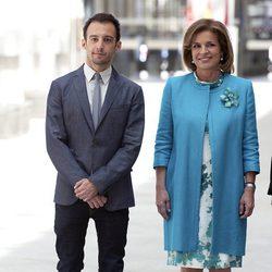 Alejandro Amenábar y Ana Botella en la entrega de las Medallas de Oro de Madrid 2012