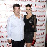 María Jesús Ruiz y su novio José María Gil Silgado en el 33 cumpleaños de Chayo Mohedano