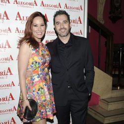 Chayo Mohedano con su marido Andrés Fernández en la celebración de su 33 cumpleaños