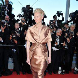 Tilda Swinton en la apertura del Festival de Cannes 2012