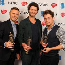Take That en la entrega de los Premios Ivor Novello 2012