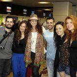 Pastora Soler en el aeropuerto de Barajas de camino al Festival de Eurovisión 2012