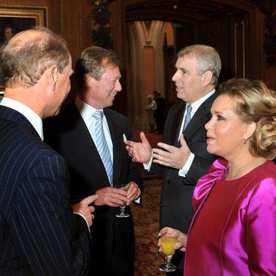 Andrés y Eduardo de Inglaterra departen con los Grandes Duques de Luxemburgo