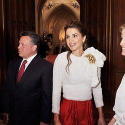 Los Condes de Wessex con los Reyes de Jordania en Windsor
