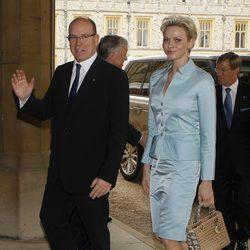 Los Príncipes de Mónaco en Windsor