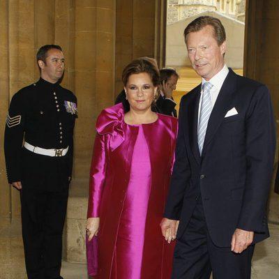 Los Grandes Duques de Luxemburgo en Windsor