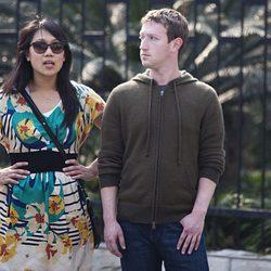 Mark Zuckerberg y su novia Priscilla Chan