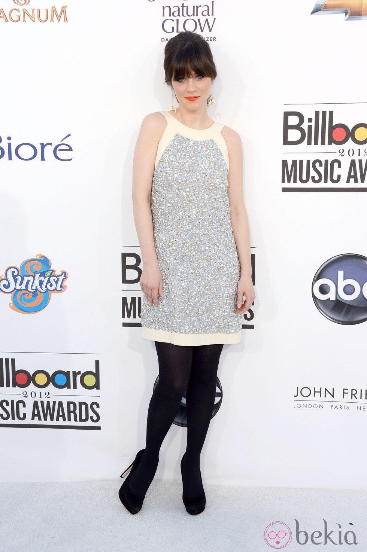 Zooey Deschanel acudió a la gala de los premios Billboard 2012