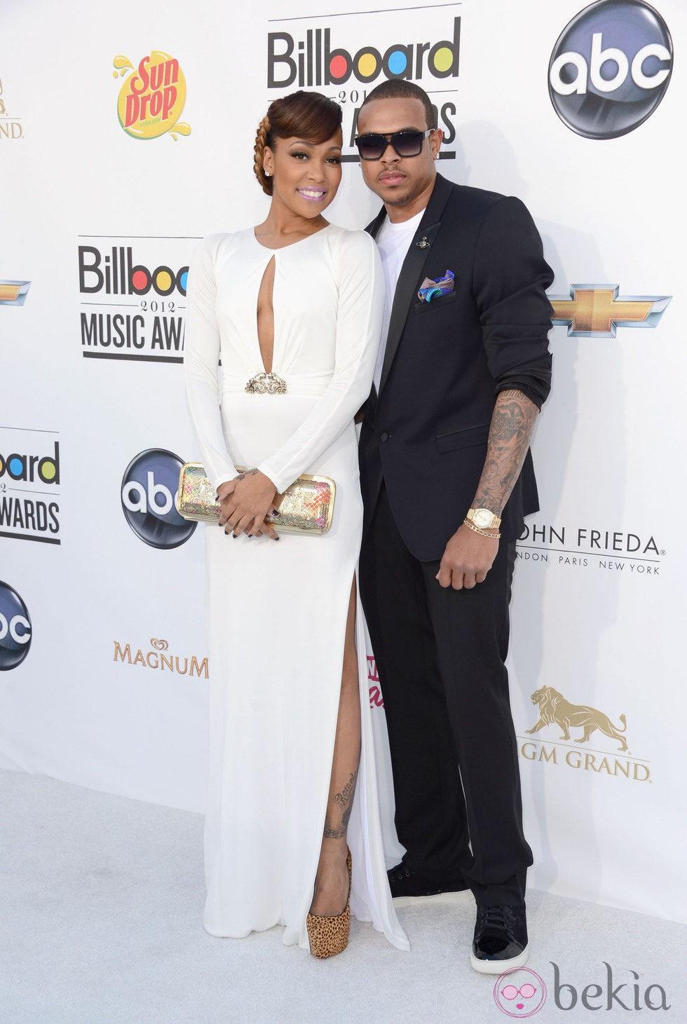 Chris Brown y Mónica en la entrega de premios Billboard 2012