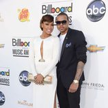 Chris Brown y Mónica en la entrega de premios Billboard 2012
