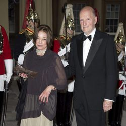 Los Reyes de Bulgaria en una cena de gala en Buckingham Palace