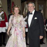 Los Reyes de Grecia en una cena de gala en Buckingham Palace
