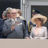 La Reina y el Príncipe de Dinamarca y los Grandes Duques de Luxemburgo en Windsor