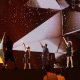 Pasora Soler en el escenario de Baku, ciudad de Eurovision 2012
