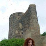 Pastora Soler en la Torre de la Dama de Baku, ciudad de Eurovisión 2012