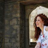 Pastora Soler visitando la Mezquita de Bakú, ciudad de Eurovisión 2012