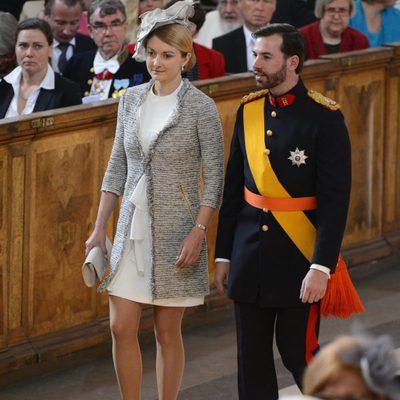Guillermo de Luxemburgo y Stéphanie de Lannoy en el bautizo de Estela de Suecia