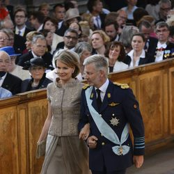 Los Príncipes de Bélgica en el bautizo de Estela de Suecia