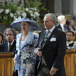 Margarita y Enrique de Dinamarca en el bautizo de Estela de Suecia