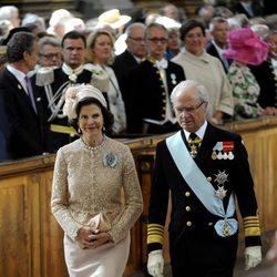 Los Reyes de Suecia en el bautizo de la Princesa Estela
