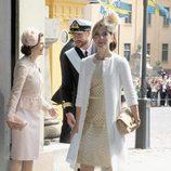 Mary de Dinamarca en el bautizo de Estela de Suecia