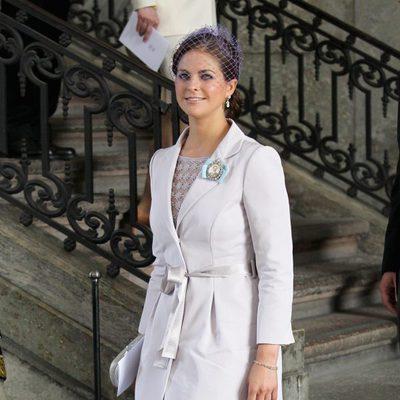 Magdalena de Suecia en el bautizo de la Princesa Estela de Suecia