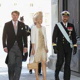 Guillermo de Holanda, Mary de Dinamarca y Haakon de Noruega en el bautizo de Estela de Suecia