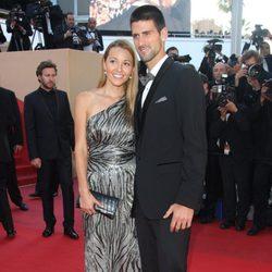 Novak Djokovic y su novia Jelena Ristic en el Festival de Cannes 2012