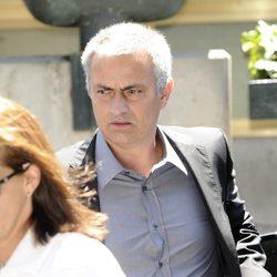 José Mourinho en la capilla ardiente de María Ángeles Sandoval, Pitina