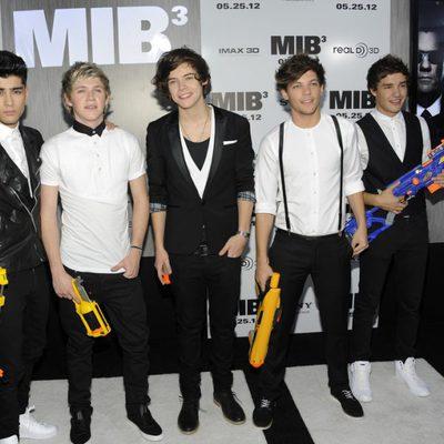 El grupo One Direction en la premiere de 'Men In Black 3' en Nueva York